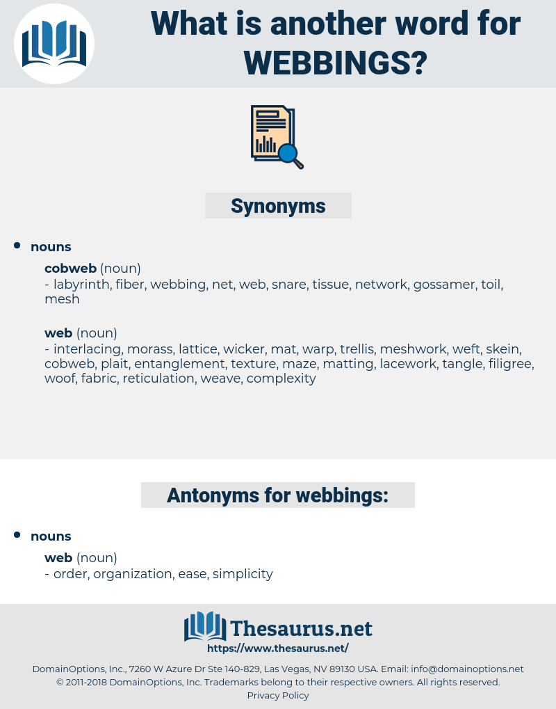 webbings, synonym webbings, another word for webbings, words like webbings, thesaurus webbings