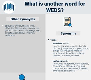 weds, synonym weds, another word for weds, words like weds, thesaurus weds