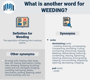 Weeding, synonym Weeding, another word for Weeding, words like Weeding, thesaurus Weeding