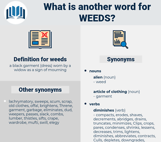 weeds, synonym weeds, another word for weeds, words like weeds, thesaurus weeds