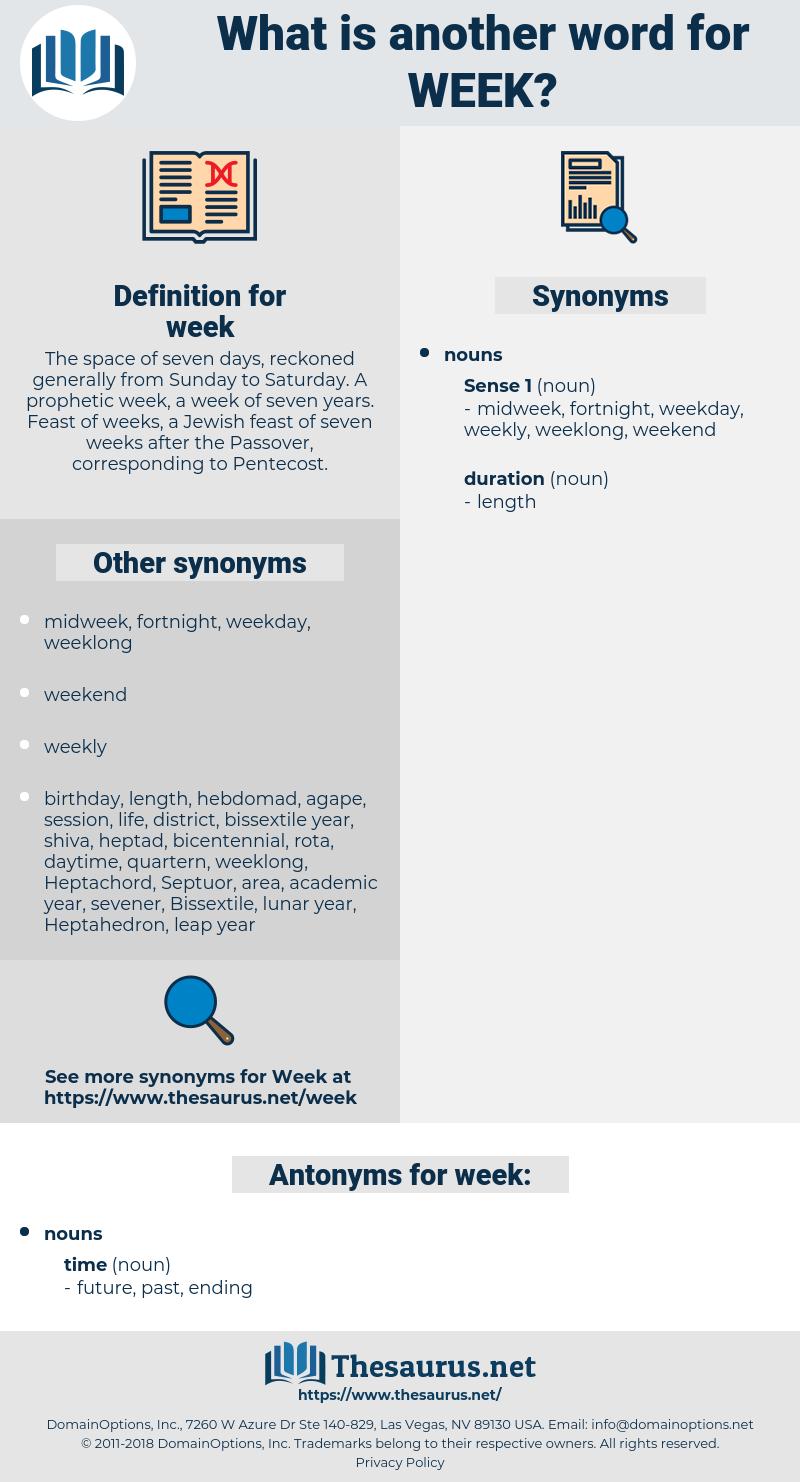week, synonym week, another word for week, words like week, thesaurus week