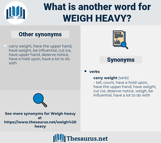weigh heavy, synonym weigh heavy, another word for weigh heavy, words like weigh heavy, thesaurus weigh heavy