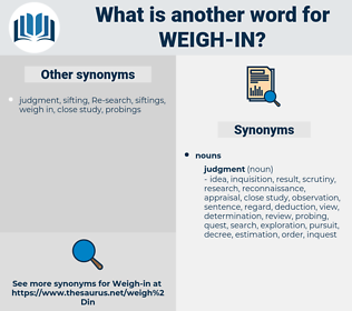 weigh in, synonym weigh in, another word for weigh in, words like weigh in, thesaurus weigh in