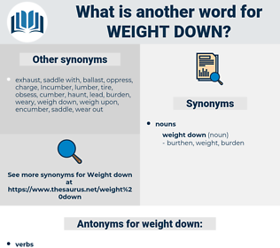 weight down, synonym weight down, another word for weight down, words like weight down, thesaurus weight down