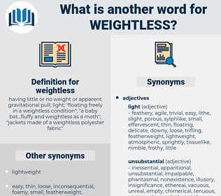 weightless, synonym weightless, another word for weightless, words like weightless, thesaurus weightless
