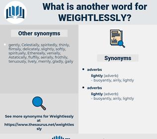 weightlessly, synonym weightlessly, another word for weightlessly, words like weightlessly, thesaurus weightlessly