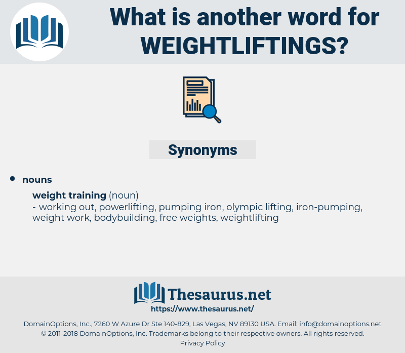 weightliftings, synonym weightliftings, another word for weightliftings, words like weightliftings, thesaurus weightliftings