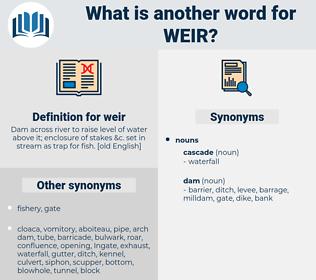 weir, synonym weir, another word for weir, words like weir, thesaurus weir