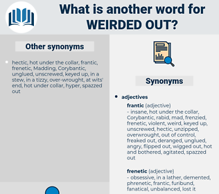 weirded out, synonym weirded out, another word for weirded out, words like weirded out, thesaurus weirded out