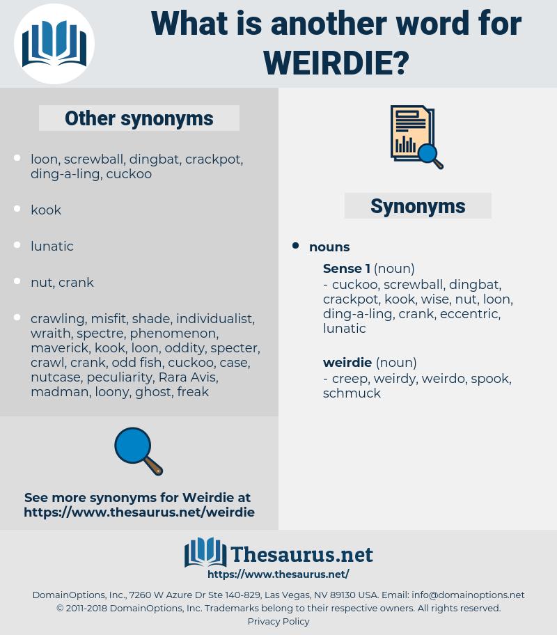 weirdie, synonym weirdie, another word for weirdie, words like weirdie, thesaurus weirdie
