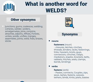 welds, synonym welds, another word for welds, words like welds, thesaurus welds