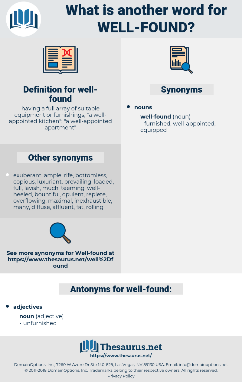 well-found, synonym well-found, another word for well-found, words like well-found, thesaurus well-found