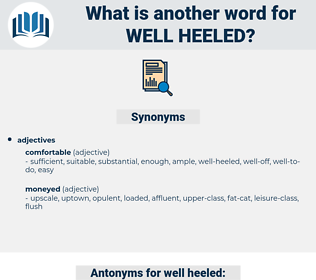 well-heeled, synonym well-heeled, another word for well-heeled, words like well-heeled, thesaurus well-heeled