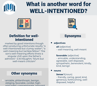 well-intentioned, synonym well-intentioned, another word for well-intentioned, words like well-intentioned, thesaurus well-intentioned