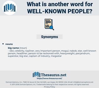 well-known people, synonym well-known people, another word for well-known people, words like well-known people, thesaurus well-known people