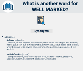 well-marked, synonym well-marked, another word for well-marked, words like well-marked, thesaurus well-marked