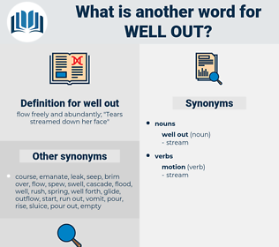 well out, synonym well out, another word for well out, words like well out, thesaurus well out