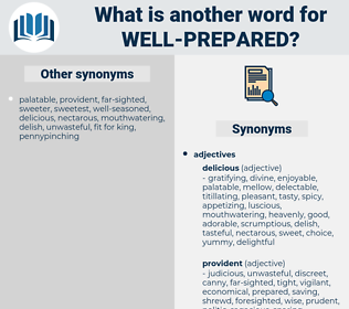 well-prepared, synonym well-prepared, another word for well-prepared, words like well-prepared, thesaurus well-prepared
