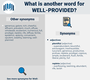 well-provided, synonym well-provided, another word for well-provided, words like well-provided, thesaurus well-provided