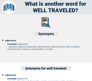well-traveled, synonym well-traveled, another word for well-traveled, words like well-traveled, thesaurus well-traveled