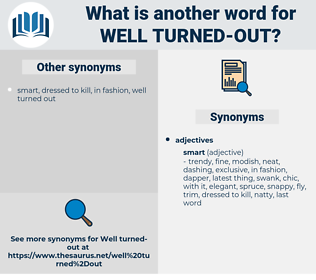 well turned out, synonym well turned out, another word for well turned out, words like well turned out, thesaurus well turned out