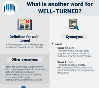 well-turned, synonym well-turned, another word for well-turned, words like well-turned, thesaurus well-turned