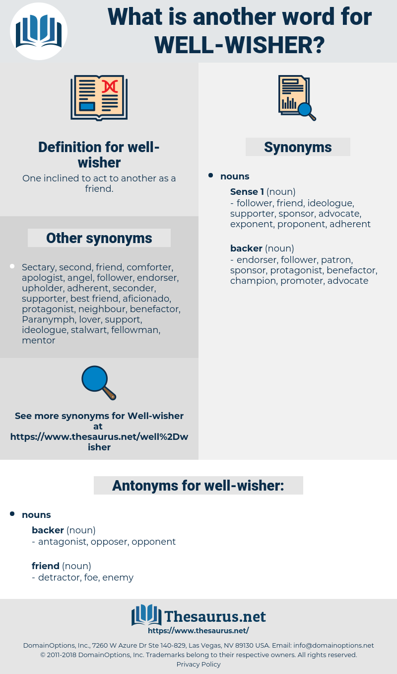 Synonyms For Well Wisher Antonyms For Well Wisher Thesaurusnet