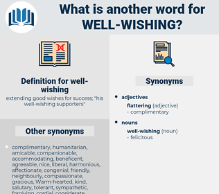 well-wishing, synonym well-wishing, another word for well-wishing, words like well-wishing, thesaurus well-wishing