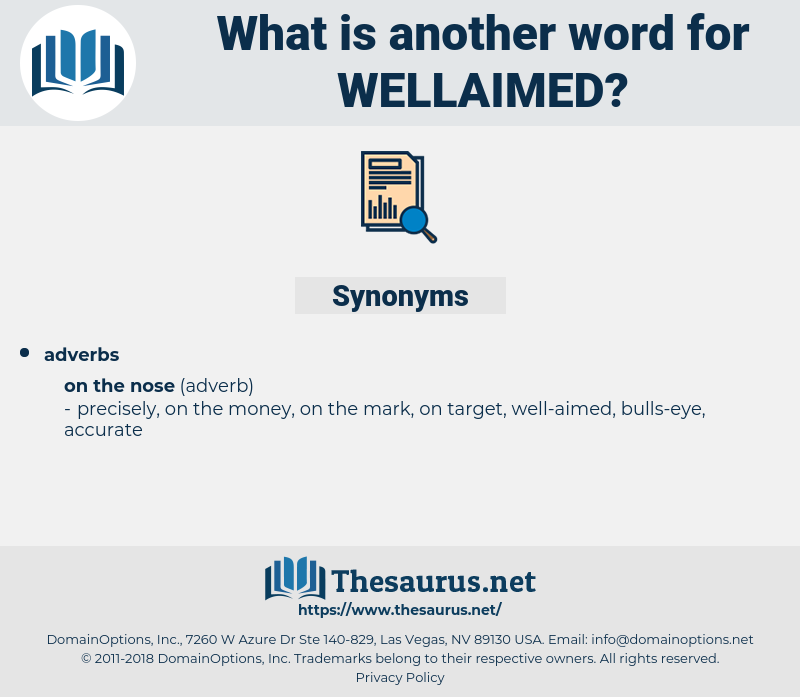 wellaimed, synonym wellaimed, another word for wellaimed, words like wellaimed, thesaurus wellaimed