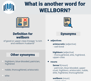 wellborn, synonym wellborn, another word for wellborn, words like wellborn, thesaurus wellborn