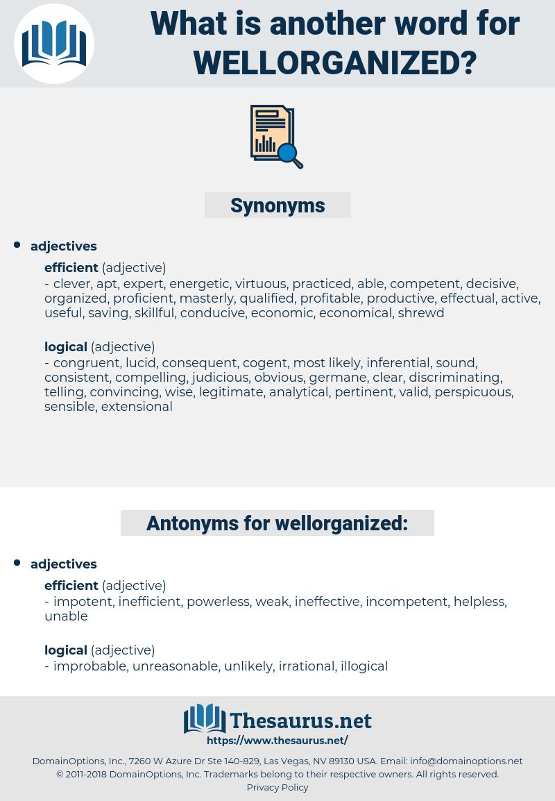 wellorganized, synonym wellorganized, another word for wellorganized, words like wellorganized, thesaurus wellorganized