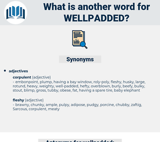 wellpadded, synonym wellpadded, another word for wellpadded, words like wellpadded, thesaurus wellpadded