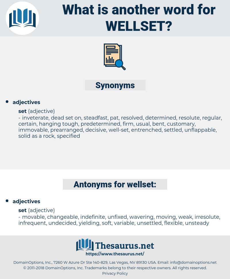 wellset, synonym wellset, another word for wellset, words like wellset, thesaurus wellset