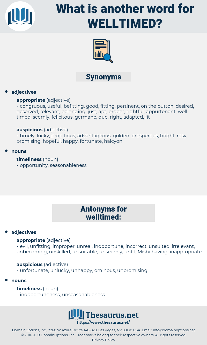 welltimed, synonym welltimed, another word for welltimed, words like welltimed, thesaurus welltimed