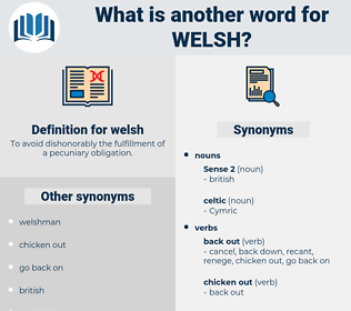 welsh, synonym welsh, another word for welsh, words like welsh, thesaurus welsh