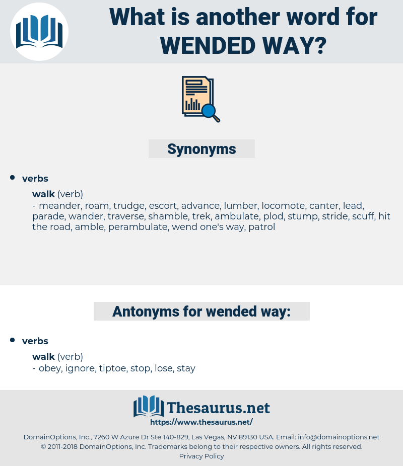 wended way, synonym wended way, another word for wended way, words like wended way, thesaurus wended way