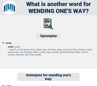 wending one's way, synonym wending one's way, another word for wending one's way, words like wending one's way, thesaurus wending one's way