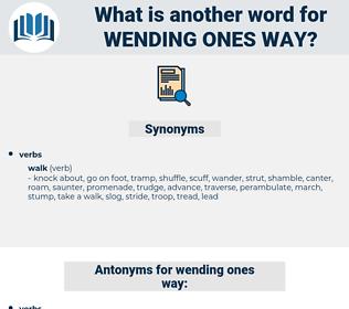 wending ones way, synonym wending ones way, another word for wending ones way, words like wending ones way, thesaurus wending ones way