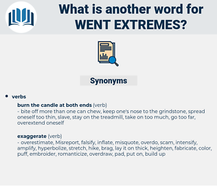 went extremes, synonym went extremes, another word for went extremes, words like went extremes, thesaurus went extremes