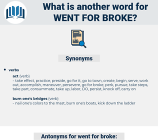went for broke, synonym went for broke, another word for went for broke, words like went for broke, thesaurus went for broke