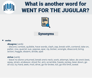 went for the jugular, synonym went for the jugular, another word for went for the jugular, words like went for the jugular, thesaurus went for the jugular