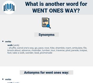 went ones way, synonym went ones way, another word for went ones way, words like went ones way, thesaurus went ones way