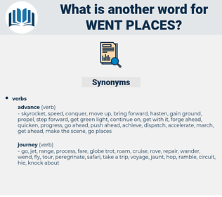 went places, synonym went places, another word for went places, words like went places, thesaurus went places