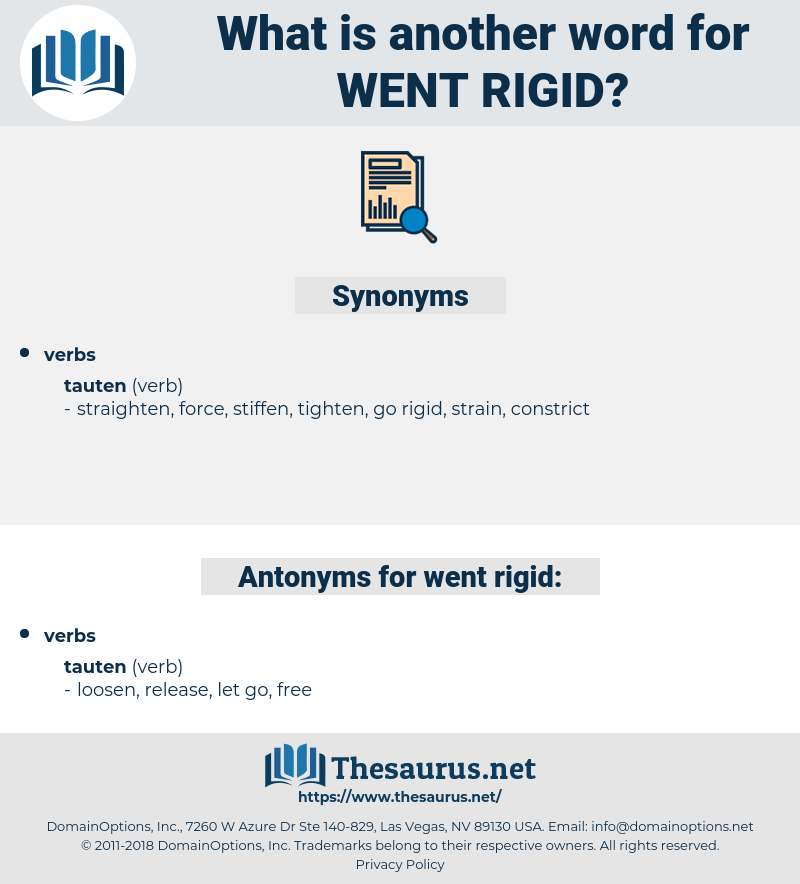 went rigid, synonym went rigid, another word for went rigid, words like went rigid, thesaurus went rigid