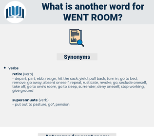 went room, synonym went room, another word for went room, words like went room, thesaurus went room