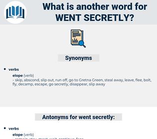 went secretly, synonym went secretly, another word for went secretly, words like went secretly, thesaurus went secretly