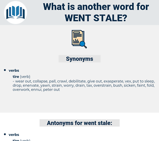went stale, synonym went stale, another word for went stale, words like went stale, thesaurus went stale