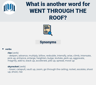went through the roof, synonym went through the roof, another word for went through the roof, words like went through the roof, thesaurus went through the roof