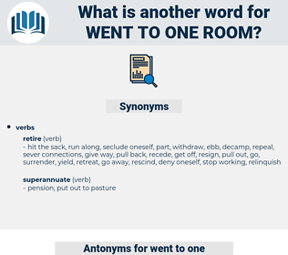 went to one room, synonym went to one room, another word for went to one room, words like went to one room, thesaurus went to one room