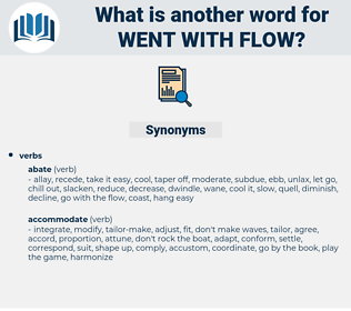 went with flow, synonym went with flow, another word for went with flow, words like went with flow, thesaurus went with flow